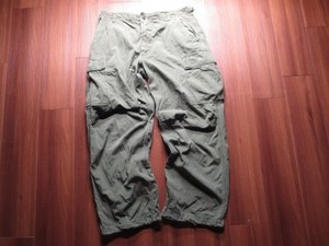 U.S.Fatigue Trousers Cotton 1969年 sizeM-R used