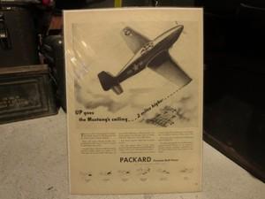 "U.S.Life誌 AD ""PACKARD"" 1940年代(切り抜き実物です)"