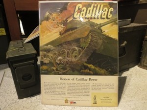 "U.S.Life誌 AD ""CADILLAC"" 1940年代 (切り抜き実物です)"