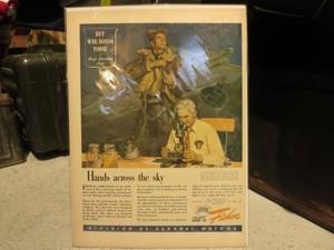 """U.S.Life誌 AD """"General Motors"""" 1940年代 (切り抜き実物です)"""