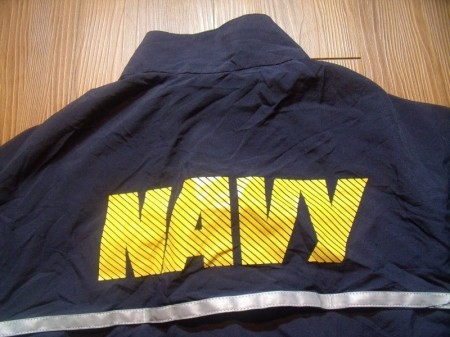 U.S.NAVY Jacket Running Athletic sizeS-Long used