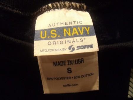 U.S.NAVY Sweat Athletic sizeS used?