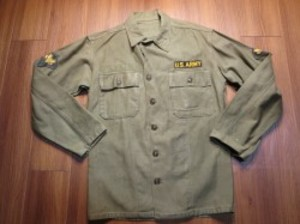 U.S.ARMY Shirt Cotton Utility 1960年頃 sizeS used