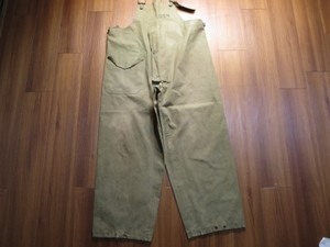U.S.NAVY WaterProof? Overalls 1950年代? sizeS used