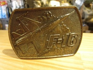 "U.S.AIR FORCE Buckle ""F-16"" 1978年 used"