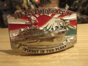 "U.S.NAVY Buckle ""USS BLUE RIDGE LCC-19"" Broken"
