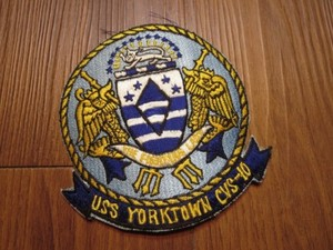 "U.S.NAVY Patch ""USS YORKTOWN CVS-10"" 1960年代 new"