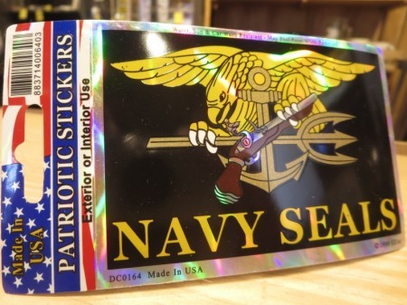 "U.S.NAVY STICKER ""NAVY SEALS(Trident)"""
