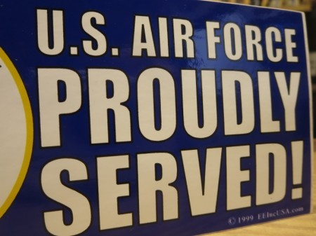 "U.S.AIR FORCE STICKER ""PROUDLY SERVED!"""