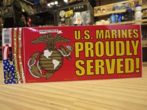 "U.S.MARINE CORPS STICKER ""PROUDLY SERVED!"""