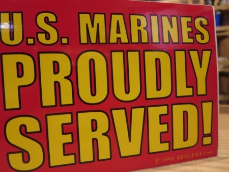 "U.S.MARINE CORPS STICKER ""PROUDLY SERVED!"""