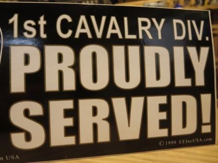 "U.S.ARMY STICKER ""1st CAVALRY DIVISION"""