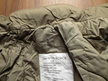 U.S.ECWCS GenⅣ Level7 FR Wind/Waterproof sizeL new