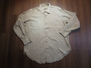 U.S.Shirt Cotton Poplin Tan 1965-66年 sizeM~L? used