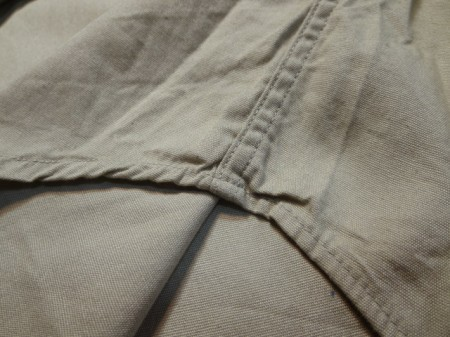 U.S.Shirt Cotton Poplin Tan 1965-66年 sizeM~L? used