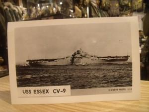 """U.S.NAVY Post Card """"USS ESSEX CV-9"""""""