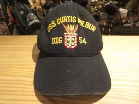 """U.S.NAVY UtilityCap """"USS CURTIS WILBUR DDG-54""""used"""