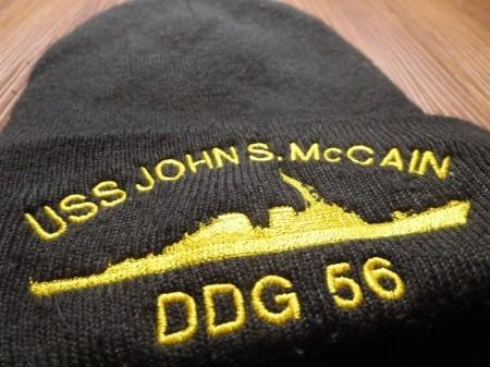 "U.S.NAVY Watch Cap ""USS JOHN S.McCAIN DDG56"" used"