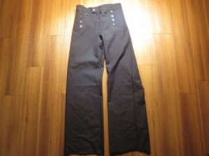 U.S.NAVY Trousers 100% Blue Enlisted size31R new