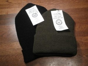 U.S.Watch Cap 100% Wool new Olive