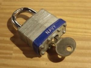 U.S.NAVY Lock used