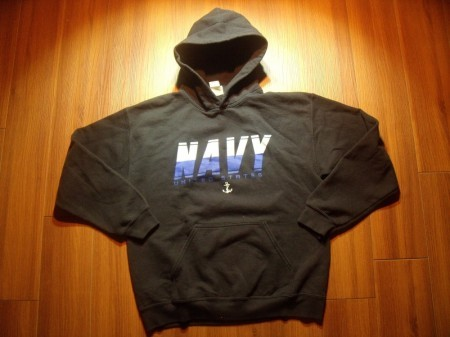 "U.S.NAVY Hooded Parka ""USS WILLIAM P. LA~""? sizeM"