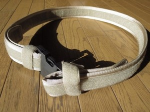 U.S.Belt Nylon? Tan sizeL used