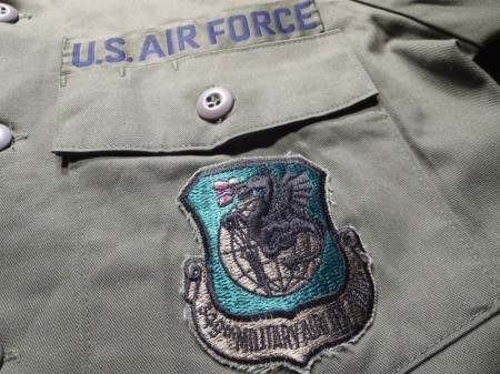 U.S.AIR FORCE Utility Shirt 1987年 size14 1/2 used