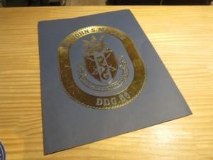 """U.S.NAVY Paper Cover """"USS John S. McCain DDG-56"""""""