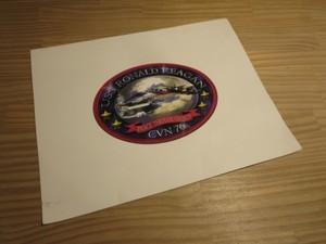 """U.S.NAVY Paper Cover """"USS RONALD REAGAN CVN-76"""""""""""