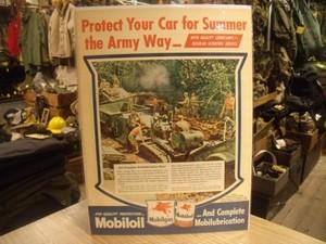"""U.S.Life誌 AD """"Mobiloil"""" 1960年代 (切り抜き実物です)"""