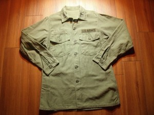 U.S.ARMY Shirt Cotton Utility 1960-70年代 sizeM?