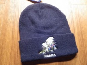 "U.S.NAVY Watch Cap ""SEABEES"" new"