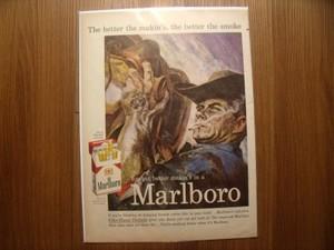 """U.S.Life誌 AD """"Marlboro"""" 1950年代? (切り抜き実物です)"""