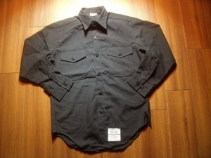 U.S.NAVY Shirt Poly/Wool 1998年 size15 1/2 used
