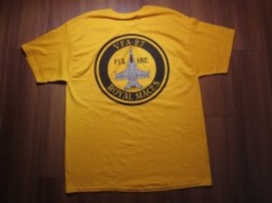"U.S.NAVY T-Shirt ""VFA-27 Royal Maces"" sizeL new"