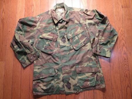 U.S.Coat 100%Cotton Camouflage 1968年 sizeM-S used