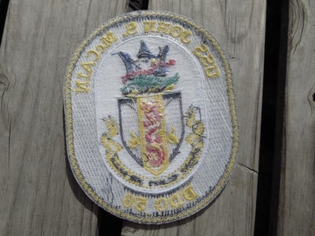 "U.S.NAVY Patch""USS John S. McCain (DDG-56)"" used"