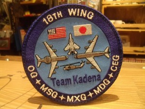 """U.S.AIR FORCE Patch """"18TH WING"""""""