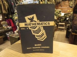 "U.S.NAVY TextBook ""MATHEMATICS"" 1951年 used"