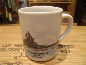 "U.S.NAVY Mug ""USS MASSACHUSETTS BB-59"""