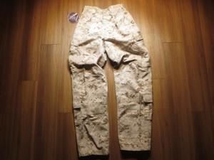 U.S.MARINE CORPS Trousers (FROG)Desert sizeS-R new