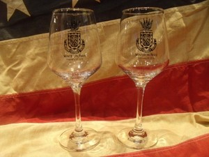 "U.S.NAVY Wine Glass Set 1pair ""USS CURTIS WILBUR"""