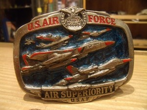 """U.S.AIR FORCE Buckle 1983年 """"Made in USA"""" used"""