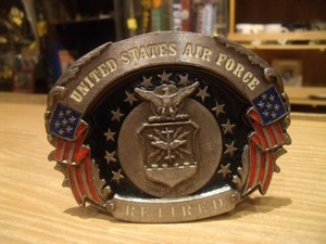 """U.S.AIR FORCE Buckle 1992年 """"Made in USA"""" used"""