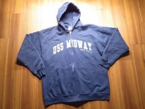 "U.S.NAVY Hooded Parka ""USS MIDWAY CV-41"" sizeXL?"