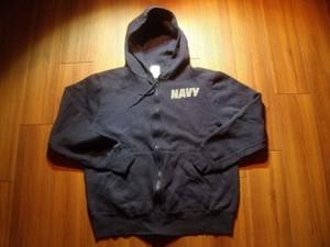 U.S.NAVY Hooded Full Zip Parka Athletic sizeL used