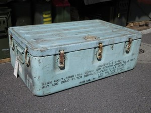 U.S.NAVY? Metal Box Medical used