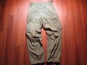 U.S.Trousers Combat 100%Cotton 1967年 sizeS-Short