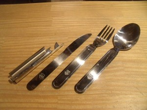 """HUNGARY Cutlery Set """"Fork/Spoon/Knife/CanOpener"""""""